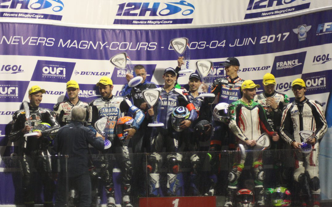 3 YAMAHA R1s ON THE PODIUM OF THE FIRST RACE OF THE 12 H OF NEVERS MAGNY-COURS