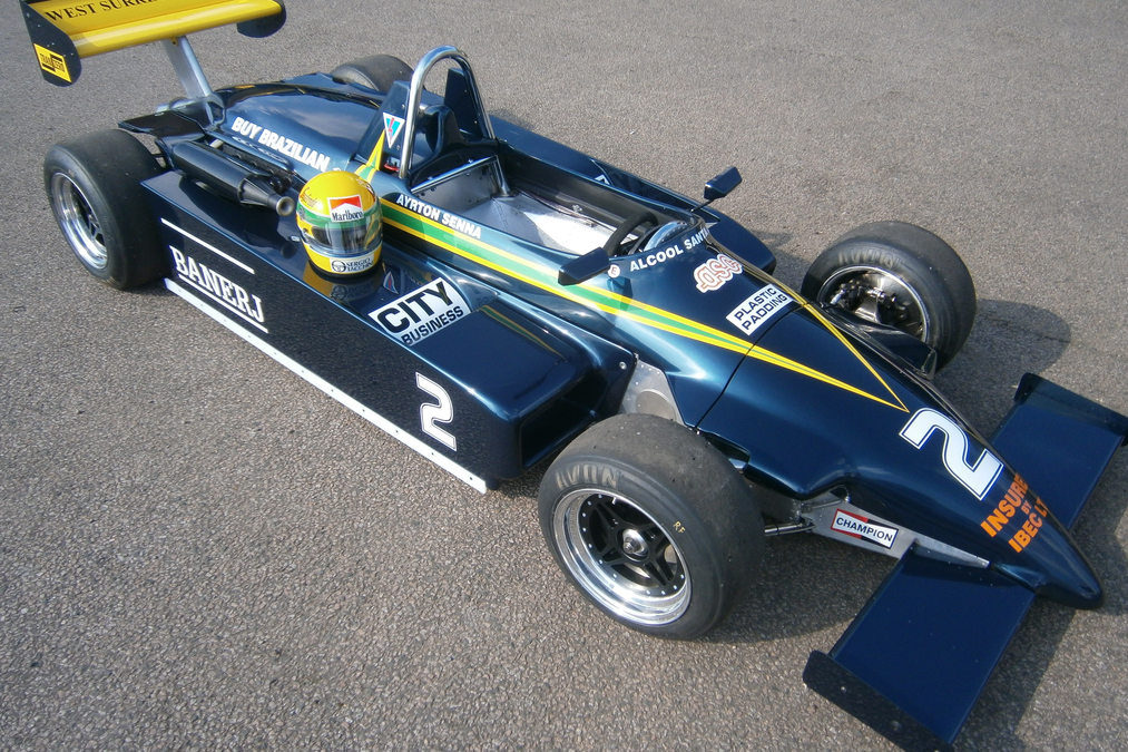 THE AYRTON SENNA'S FIRST FORMULA 3 CAR ON THE GRID