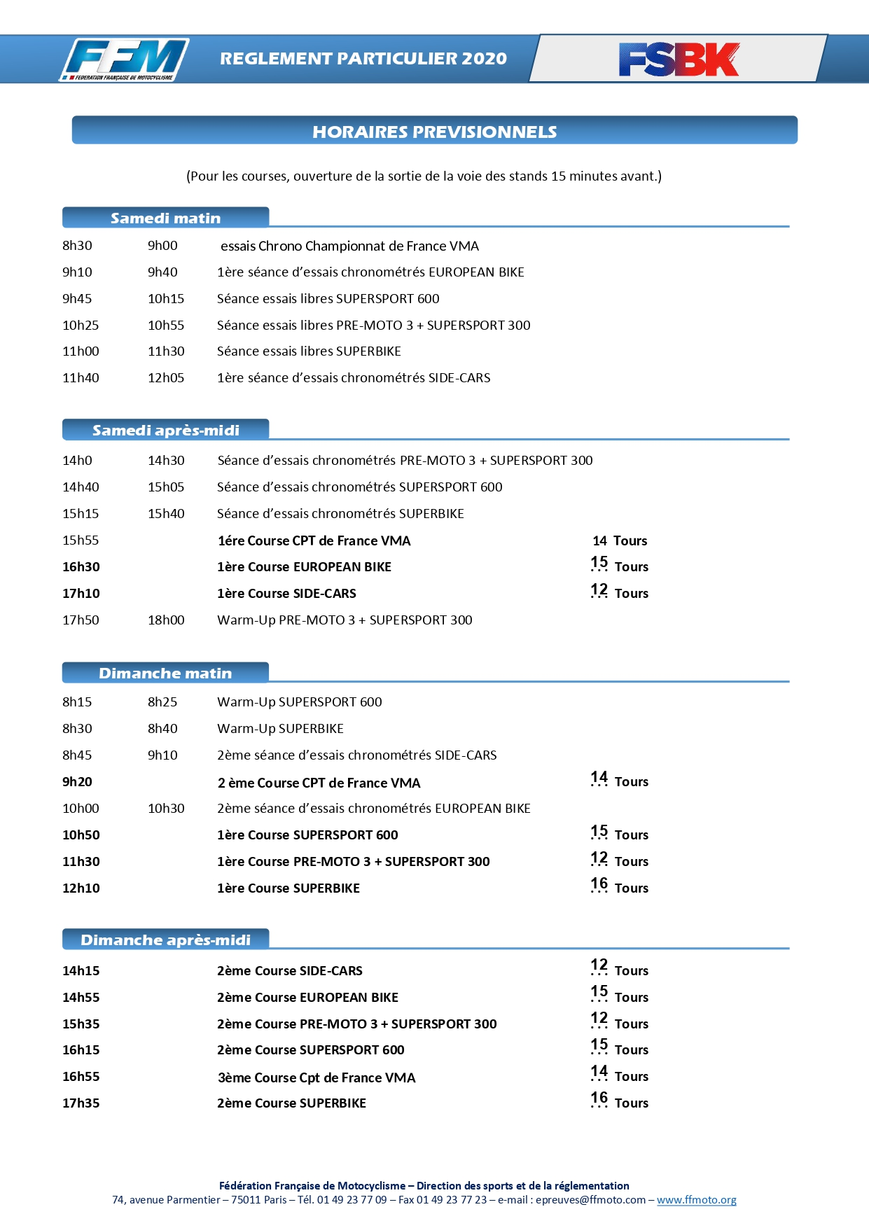 [FSBK] Magny-cours 2020 HORAIRES-FSBK-MAGNY-COURS_page-0002