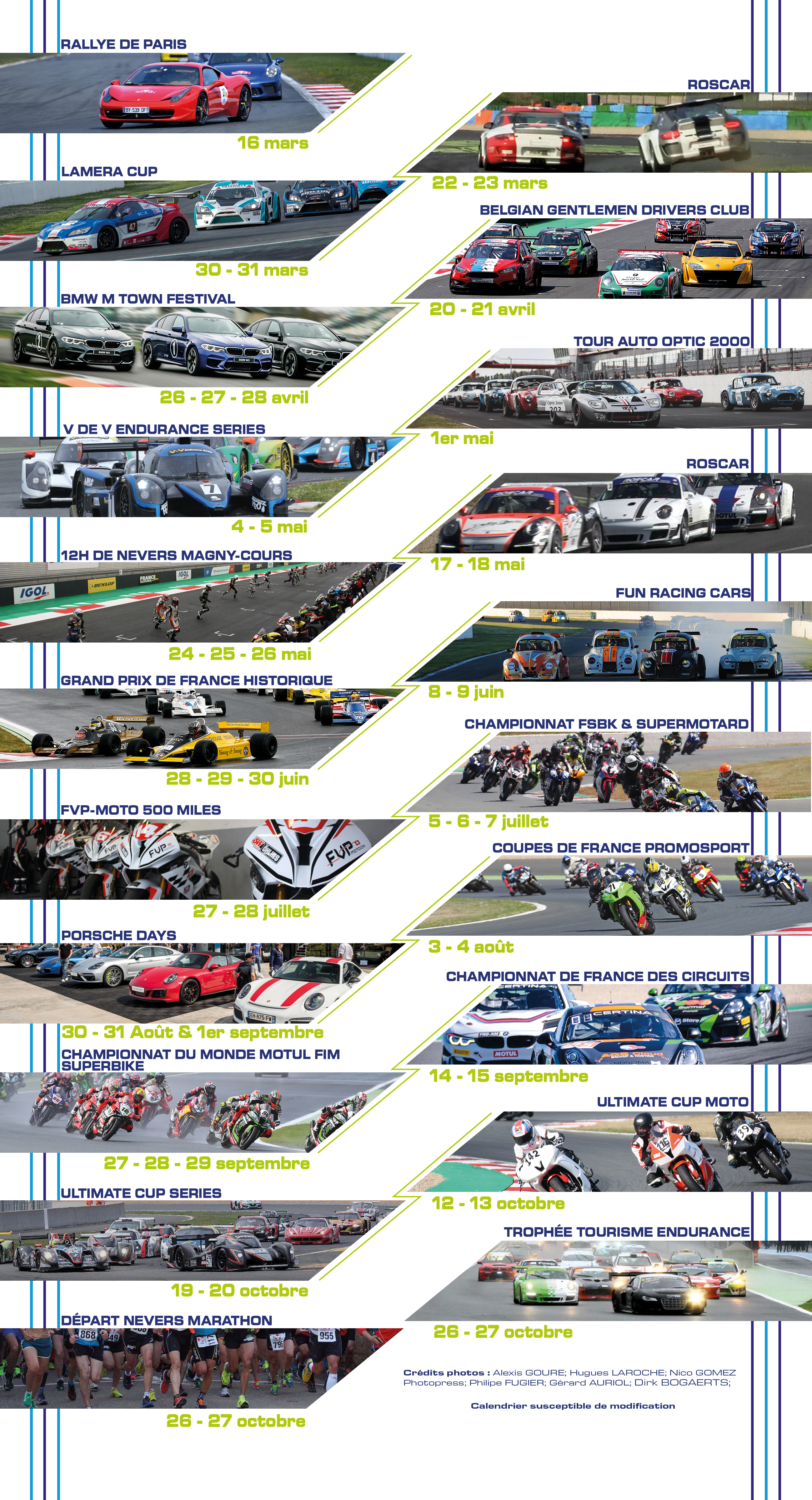 Calendrier Fun Car 2020.Calendar Of Events Circuit De Magny Cours