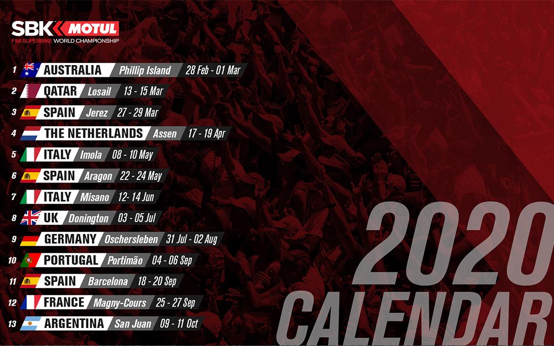 Le Championnat du Monde Motul FIM Superbike de retour en 2020 !