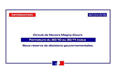 FERMETURE DU CIRCUIT DE NEVERS MAGNY-COURS #COVID19