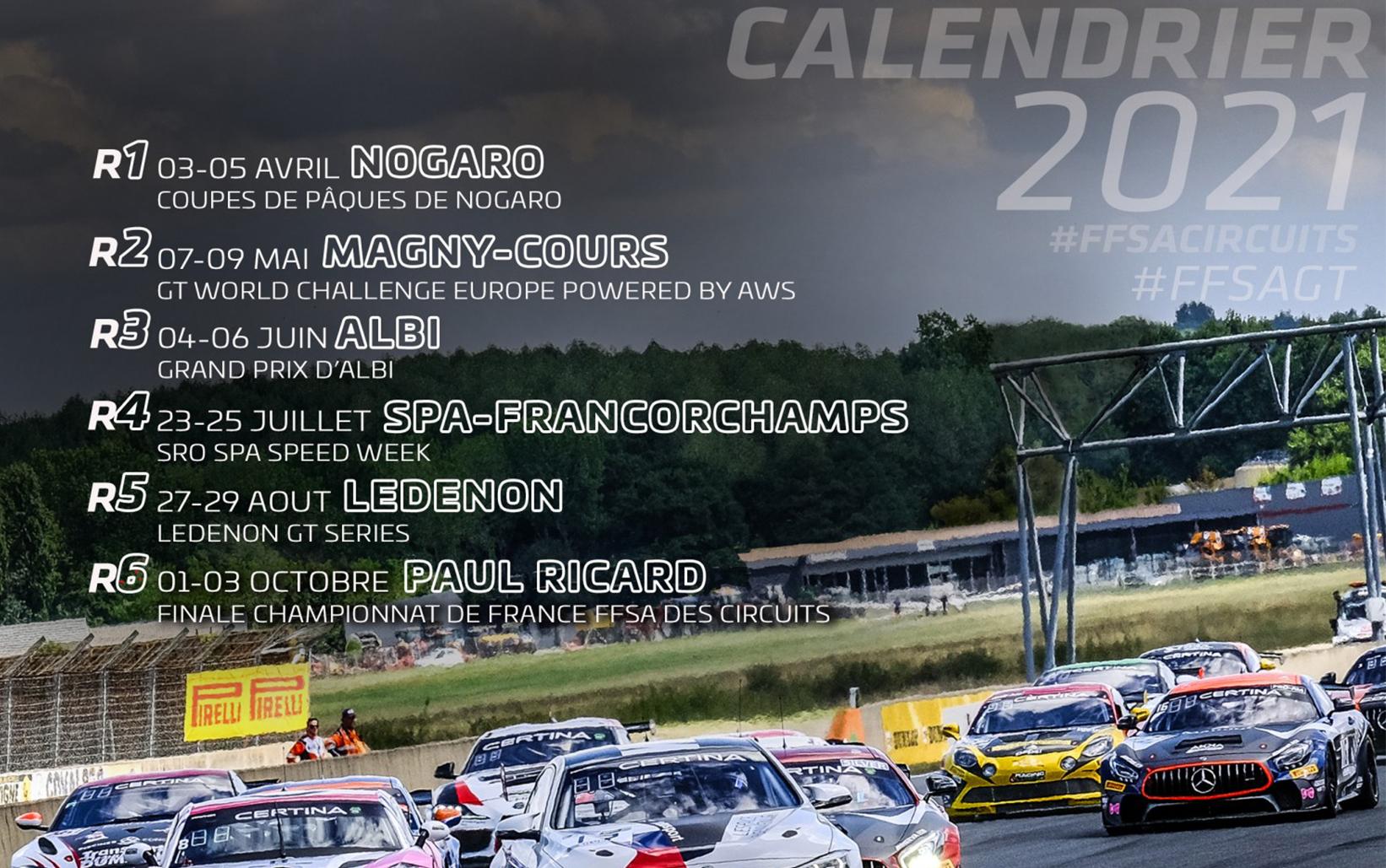 Calendrier Rallye 2021 Ffsa Le FFSA GT   GT4 France partagera l'affiche avec GT World