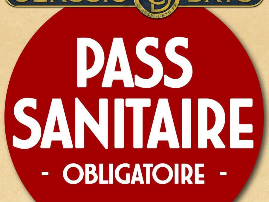 Classic Days : PASS sanitaire obligatoire.