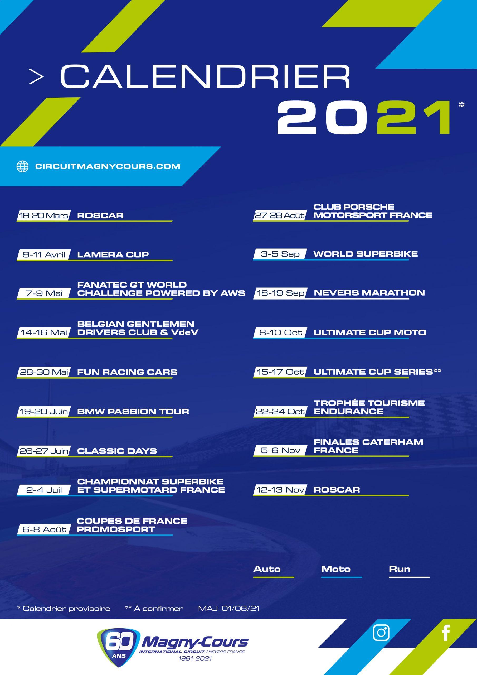 Calendrier Magny Cours 2022 Calendrier des événements   Circuit de Magny Cours