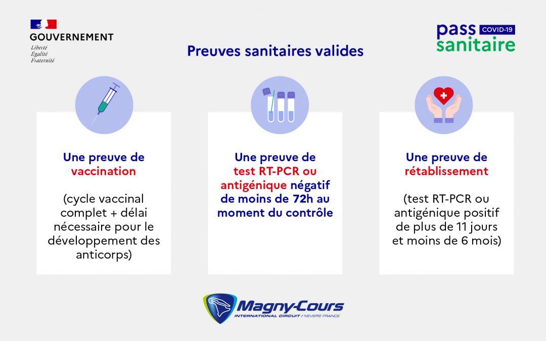 Pass Sanitaire obligatoire sur le Circuit de Nevers Magny-Cours