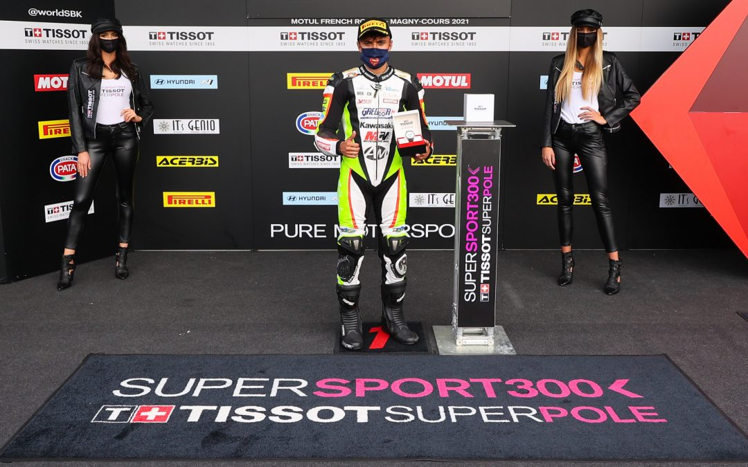 Huertas takes career-first WorldSSP300 pole, title contenders on front row